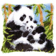 Kit de coussin point noué - Vervaco - Pandas