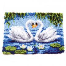 Kit de tapis point noué - Vervaco - Le lac des cygnes