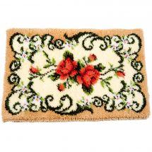 Kit de tapis point noué - Vervaco - Tapis avec roses