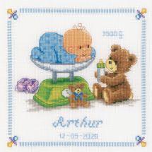 Kit point de croix - Vervaco - Bébé et ours