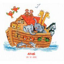 Kit point de croix - Vervaco - L'arche de Noé