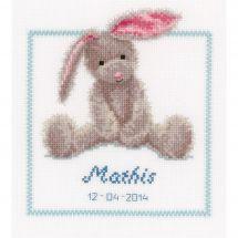Kit point de croix - Vervaco - Petit lapin