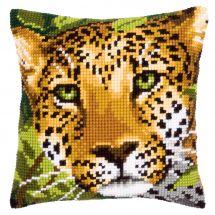 Kit de coussin gros trous - Vervaco - Le léopard