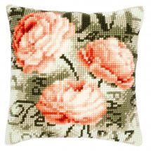 Kit de coussin gros trous - Vervaco - Les roses