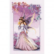 Kit point de croix - Vervaco - La fée lilas