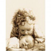 Kit point de croix - Vervaco - Bonjour mon petit ange...
