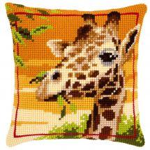 Kit de coussin gros trous - Vervaco - Girafe