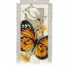 Kit de marque-pages à broder - Vervaco - Papillons et fleurs