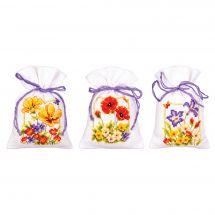 Kit de sachet senteur à broder - Vervaco - Fleurs d'été