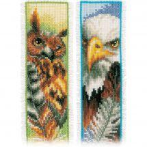 Kit de marque-pages à broder - Vervaco - Hibou et aigle