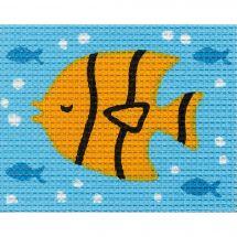 Kit de canevas pour enfant - Vervaco - Poisson