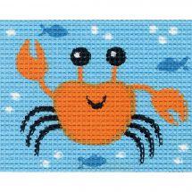 Kit de canevas pour enfant - Vervaco - Crabe