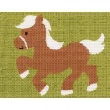 Kit de canevas pour enfant - Vervaco - Le poney