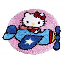 Kit de tapis point noué - Vervaco - Hello Kitty est pilote!