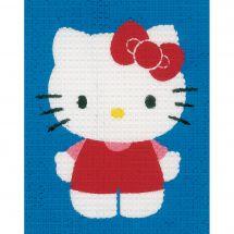 Kit de canevas pour enfant - Vervaco - Hello Kitty