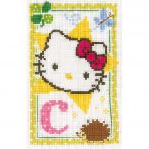 Kit point de croix - Vervaco - Hello Kitty lettre c