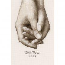 Kit point de croix - Vervaco - Main dans la main