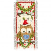 Kit de marque-pages à broder - Vervaco - Chouettes Noël