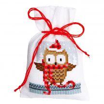 Kit de sachet senteur à broder - Vervaco - Copains Noël