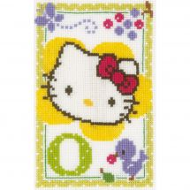 Kit point de croix - Vervaco - Hello kitty lettre o