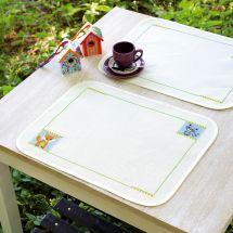 Kit de set de table à broder - Vervaco - Renard