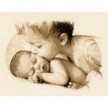 Kit point de croix - Vervaco - Amour fraternel