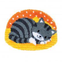 Kit de tapis point noué - Vervaco - Petit chat