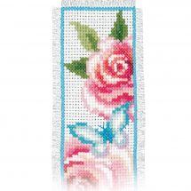 Kit de marque-pages à broder - Vervaco - Fleurs et papillons