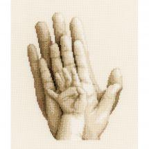 Kit point de croix - Vervaco - Des mains