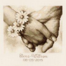 Kit point de croix - Vervaco - Jeunes mariés