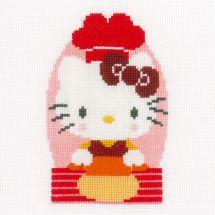 Kit point de croix - Vervaco - Hello Kitty - pâtisserie