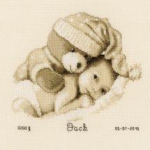 Kit point de croix - Vervaco - Bébé avec nounours
