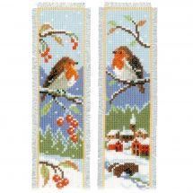 Kit de marque-pages à broder - Vervaco - Oiseaux