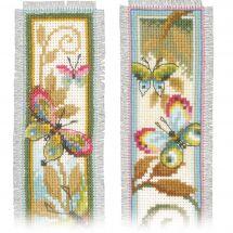 Kit de marque-pages à broder - Vervaco - Papillons