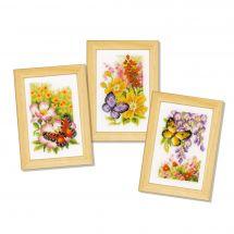 Kit point de croix - Vervaco - Papillons et fleurs