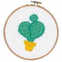 Kit point de croix avec tambour - Vervaco - Cactus I