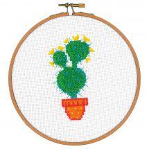 Kit point de croix avec tambour - Vervaco - Cactus III