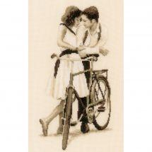 Kit point de croix - Vervaco - Couple avec vélo