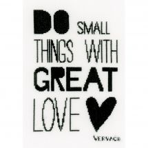 Kit point de croix - Vervaco - Do small things with great Love