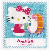 Kit point de croix - Vervaco - Hello Kitty joue du tambour