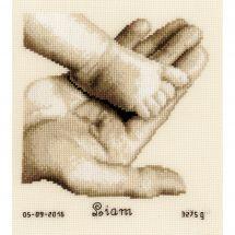 Kit point de croix - Vervaco - Pied de bébé sur main