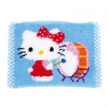 Kit de tapis point noué - Vervaco - Hello Kitty avec tambour