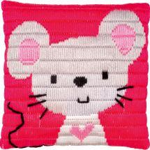 Kit de canevas pour enfant - Vervaco - Petite souris