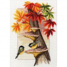 Kit point de croix - Vervaco - Mésanges en automne