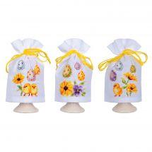 Kit d'ornement à broder - Vervaco - 3 cache-oeufs à broder - Oeufs de Pâques
