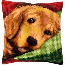 Kit de coussin gros trous - Vervaco - Petit chien endormi