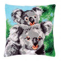 Kit de coussin gros trous - Vervaco - Koala avec bébé