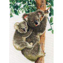 Kit point de croix - Vervaco - Koala avec bébé
