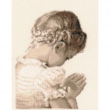 Kit point de croix - Vervaco - Fille priant