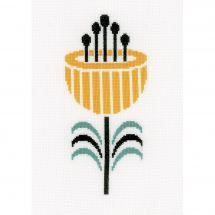 Kit point de croix - Vervaco - Fleur abstraite